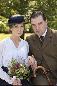 Anna. (Joanne Froggatt) The head housemaid. John Bates. (Brendan Coyle) The valet.