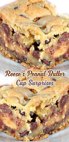 Reese's Peanut Butter Cup Surprises ( try using cup 4 cup and sugar free Reese's also maybe palm sugar instead of brown sugar omit white sugar see what happens ? Köstliche Desserts, Delicious Desserts, Great Desserts, Plated Desserts, Peanut Butter Recipes, Peanut Butter Cup Cookies, Reese Peanut Butter Cake, Peanut Butter Bread, Cookies