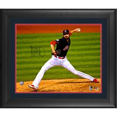 """Andrew Miller Cleveland Indians Fanatics Authentic Framed Autographed 16"""" x 20"""" Pitching Photograph - $199.99"""