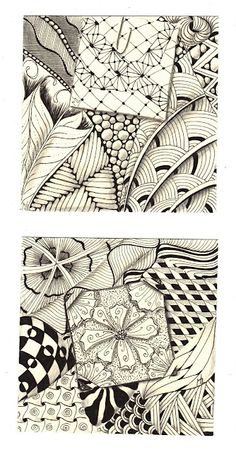 Studio ML: Zentangles®  -- like the piece within a piece concept