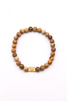 Men's Beaded Bracelet Picture Jasper 8mm