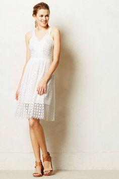 NWT ANTHROPOLOGIE by LEIFSDOTTIR LILA EYELET WHITE DRESS 10P #Leifsdottir #Fitandflare