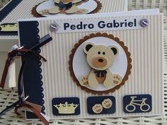 Caixa + Livro De Assinaturas Ursinho