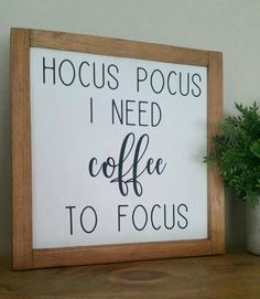 Hocus Pocus I Need Coffee To Focus,Hocus Pocus Sign,Coffee Bar Sign,Halloween Si. - Home Decor Diy Home Decor Rustic, Fall Home Decor, Autumn Home, Luxe Decor, Autumn Fall, Cute Dorm Rooms, Cool Rooms, Dorm Room Signs, Hocus Pocus