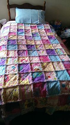 First attempt at Rag Quilt, love it