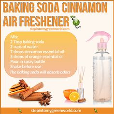 Young Living Essential Oils Air Freshener: http://www.stepintomygreenworld.com/healthyliving/around-the-home/baking-soda-cinnamon-air-freshener/