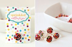 Rainbow Sprinkle Rings ~ easy DIY Party Favors #partyfavor #diyring