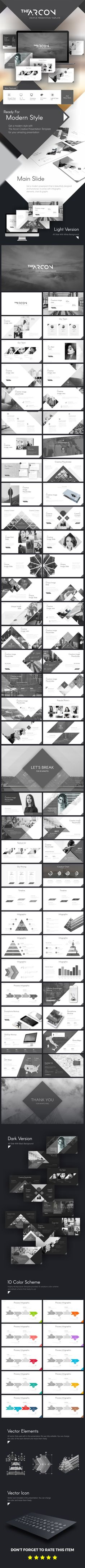 The Arcon Creative Presentation Template - #Business #PowerPoint #Templates Download here: https://graphicriver.net/item/the-arcon-creative-presentation-template/19533857?ref=alena994