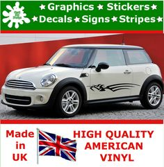 """10"""" High Car Side Stripes Graphic Decal Vinyl Stickers Van Auto Rally Race F1_84"""