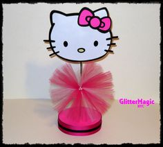 SET OF 4  Hello Kitty Centerpieces / Hello by GlitterMagic23s, $50.00