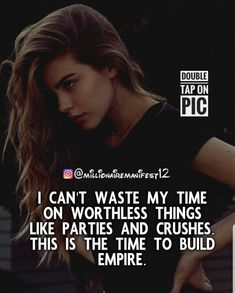 Intresting And Motivation Quotes Double Tap On Pic❤. Positive Vibes Quotes, Girly Attitude Quotes, Girly Quotes, Positive Attitude, Faith Quotes, Wisdom Quotes, True Quotes, Motivational Quotes, Boss Babe Quotes