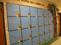 A Kindergarten bulletin board.  This was in the Fall, but one could easily change the tree to match the season.