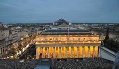 Théatre vue de la terrasse de l'hôtel Aquitaine, Bordeaux France, Grand Hotel, Classical Music, Trip Advisor, Paris Skyline, Theatre, Opera, Musicals
