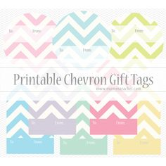 Printable Chevron Gift Tags