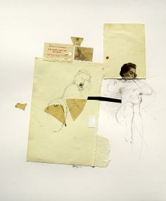 Ask Again When You Are Alone, 2014 Collage Drawing