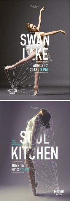 poster set | Motion Theater (Swan Lake & Soul Kitchen) by Caroline Grohs