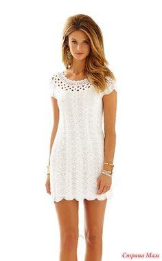 Добрый день! Наткнулась на просторах интернета на подиумное платье LILLY PULITZER (HQ). Очень понравилось платьице. Может кто-нибудь согласится провести он-лайн по вязанию этого платья?