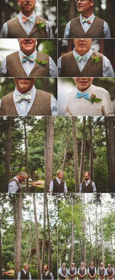 Fox & Brie Bow Ties | Northern Wisconsin Summer Camp Wedding | via The Shalom Imaginative