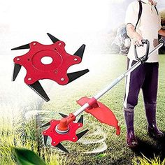 Tired of your trimmer getting clogged and tangled with thick weeds? Say goodbye to rewinding inefficient plastic string trimmers! Replace your trimmer head wi Lawn And Garden, Garden Tools, Best Chainsaw, Husqvarna, Gas And Electric, Cool Inventions, Outdoor Projects, Hanging Lights, Lawn Mower