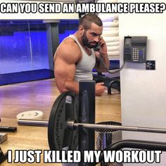 Damn...you can ride me & I'll scream like an ambulance bawhahaha sexy men that lift.