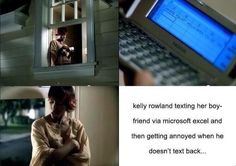 Weekend LOL: Kelly Rowland texting boyfriend with Nokia Communicator via Excel Funny Images, Funny Photos, Best Funny Pictures, Kelly Rowland, Microsoft Excel, When U See It, Funny Video Clips, Text Back, That Way