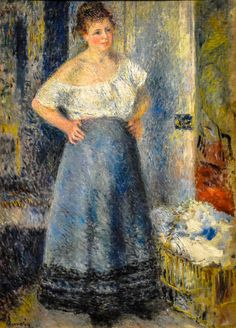 Pierre Auguste Renoir - The Laundress, 1879 at Art Institute of Chicago IL   by mbell1975