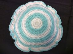 Handmade Blue and White Crochet Cushions by CuriousToot on Etsy