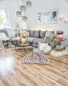 32 Lovely Comfy Living Room Ideas That You Like Living Room Grey, Interior Design Living Room, Living Room Designs, Living Room Decor, Terrace Decor, Living Room Inspiration, Home Design, Design Ideas, Apartment Living