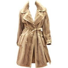 Pre-owned Christian Dior Mink Fur Trench Coat (Circa 2005) ($9,491) ❤ liked on Polyvore featuring outerwear, coats, jackets, dior, casaco, coats and outerwear, trench coats, mink coat, christian dior and beige coat