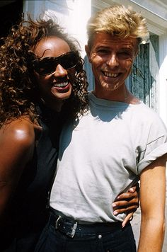 David Bowie at 44: David Bowie and Iman announcing their engagement in 1991. They married the following year.