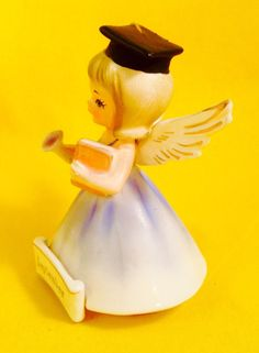 FUN! September Graduation Nanco Cute Angel Girl Figurine Vintage Rare Sale Grad | eBay