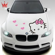 panda hello kitty car decaL   Car styling Hello kitty car sticker car hood stickers and decals for ...