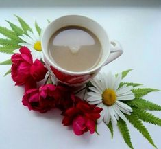 Coffee Love, Coffee Break, Morning Coffee, Coffee Carts, Coffee Drinks, Good Morning Wishes, Morning Pictures, Flower Images, Amazing Nature