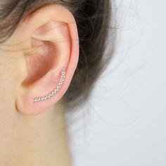 Austen Gothic Sterling Silver Ceramic Earrings