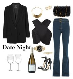 Date Night by chic-splendor on Polyvore featuring polyvore, fashion, style, Carven, McQ by Alexander McQueen, Veronica Beard, River Island, Chanel, MICHAEL Michael Kors, GUESS, Michael Kors, Tiffany & Co., Kate Spade and clothing