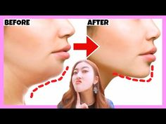 Double Chin Removal, Get a Better Jawline, V shape Face with this Exercise! Get Oval Face Shape! - YouTube Perfect Face Shape, V Shape Face, Oval Face Shapes, Double Chin Removal, Reduce Double Chin, Le Double, Good Jawline, Perfect Jawline, Facial Yoga