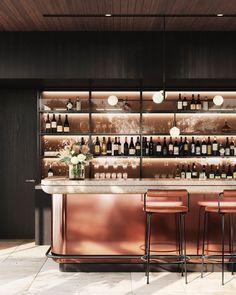 Bar, Little National Hotel Sydney - Flight, Travel Destinations and Travel Ideas Café Design, Bar Interior Design, Restaurant Interior Design, Cafe Interior, Design Studio, Ace Hotel, Hotel Lounge, Bar Lounge, Lounge Chairs
