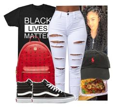 """""""😇"""" by kodakdej ❤ liked on Polyvore featuring Ralph Lauren, MCM and Vans"""