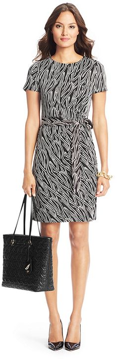 Zoe Short Sleeved Silk Jersey Dress