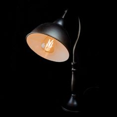 Squid Ink Lamp and ST38 E14 3W 2200k light bulb from Vintage LED