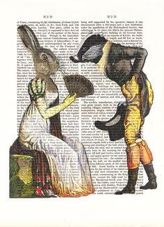 Mr Badger and Mrs Hare, Badger Print, Hare Print £7.50
