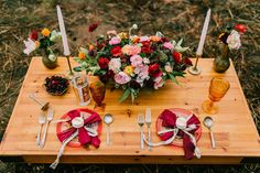 tablescape of reds