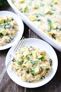 Green Chile Enchilada Quinoa Bake Recipe on twopeasandtheirpod.com This quinoa bake is a family favorite! Make it for dinner tonight!