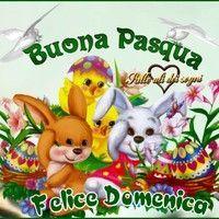 Buona Domenica di Pasqua Che sia di Pace e Serenità per... Gifs, Happy Easter, Tweety, Pikachu, Teddy Bear, Animals, Fictional Characters, Pace, 3