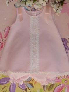 Pink Pique Sleeveless Baby Dress and Bloomer by justforbabyonetsy, $53.00
