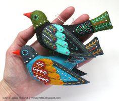 Colly patrón de aves PDF una lana cosido a mano de por mmmcrafts
