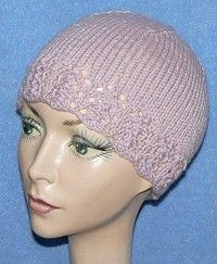 Lace-edged Women s Hat (I plan to knit this hat with the skein of Deerfield  in Ballet Slipper (Valley Yarns) that Joan brought the … 51790c28a06