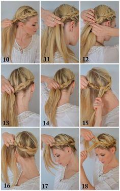 The Boho Crown Braid - 12 Braid Hair Tutorials