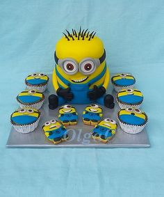 Minions by OlgaC Minions, Minion Cakes, Cakes And More, Cake Art, How To Make Cake, Bart Simpson, Gingerbread, Cake Decorating, Birthday Cake