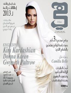 Kim Kardashian Cover Shoot for Hia Mag Arab 2013
